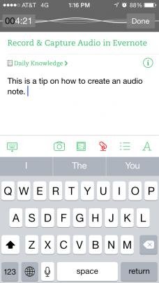 Audio Evernote