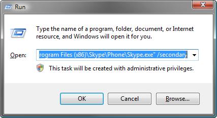 Multi compte Skype